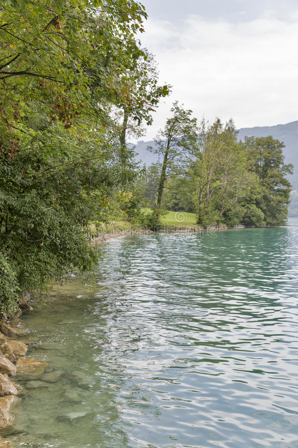 Autumn Lake Attersee in Austrian Alps stock images
