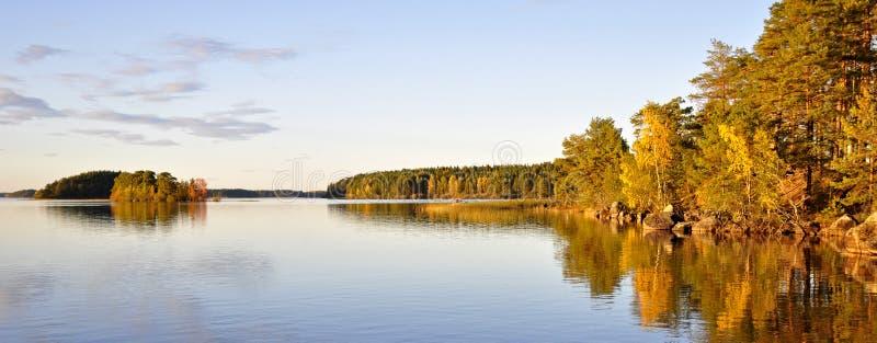 Autumn lake scenery royalty free stock photography