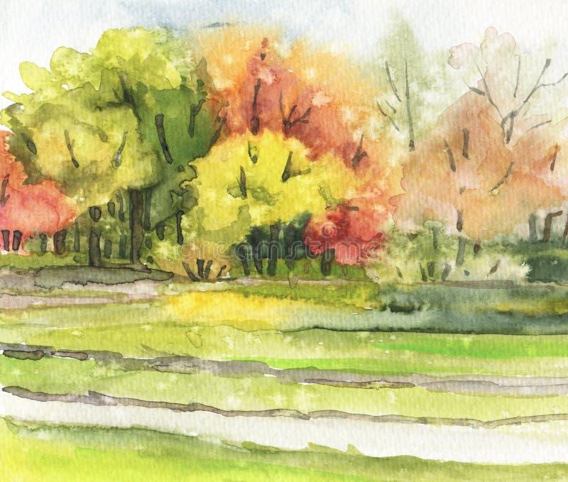Autumn Landscape ilustração do vetor