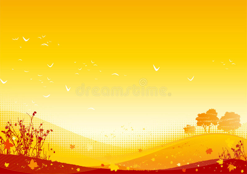 Autumn Landscape ilustração royalty free