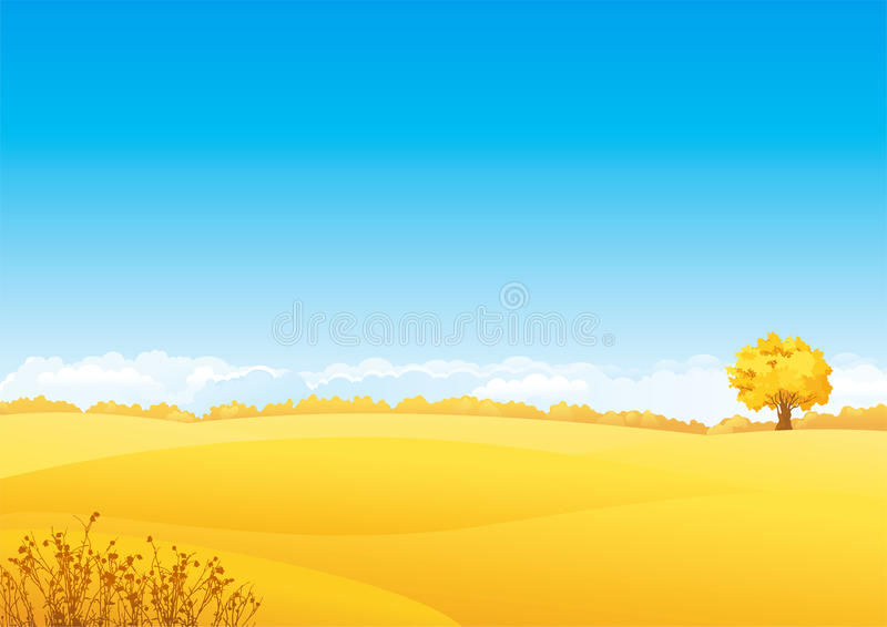Autumn Landscape stock de ilustración