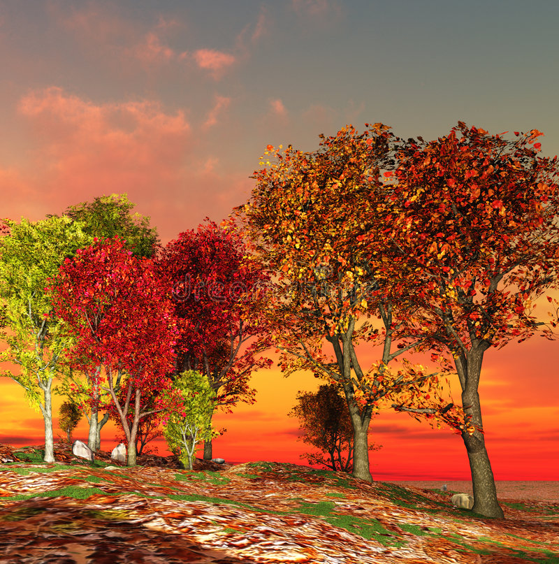 Autumn landscape royalty free illustration