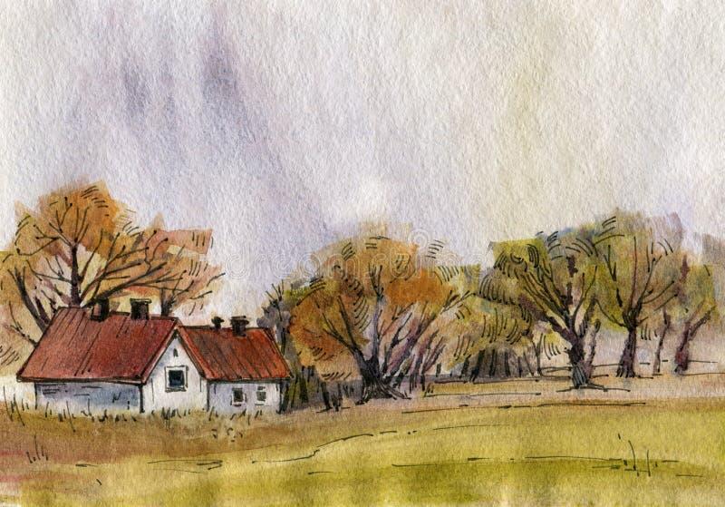 Autumn Landscape illustration libre de droits