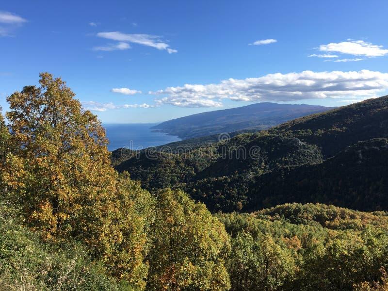 Autumn landscape. Around Isiomata Greece royalty free stock images
