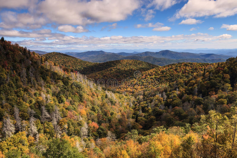 Autumn Landscape Blue Ridge Mountains Noord-Carolina royalty-vrije stock foto's