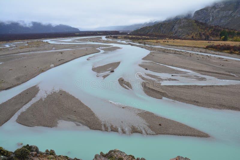 Autumn landscape in El Chalten Patagonia Argentina royalty free stock photo