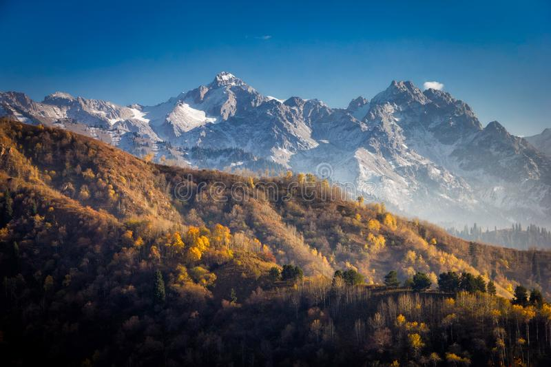 Autumn landscape of the mountains of Kazakhstan royalty free stock photos