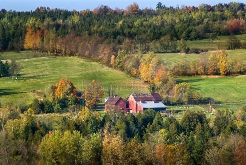 Autumn landscape near the Chartierville Valley in Estrie, Quebec, Canada stock photos