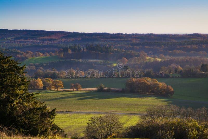 Autumn Landscape Newlands Corner, Surrey, England royalty free stock photos
