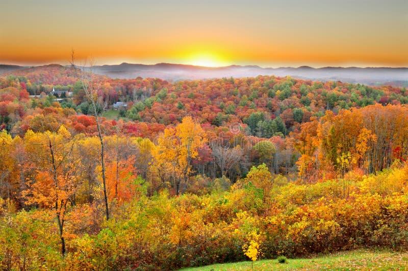 Autumn Landscape in Noord-Carolina stock fotografie