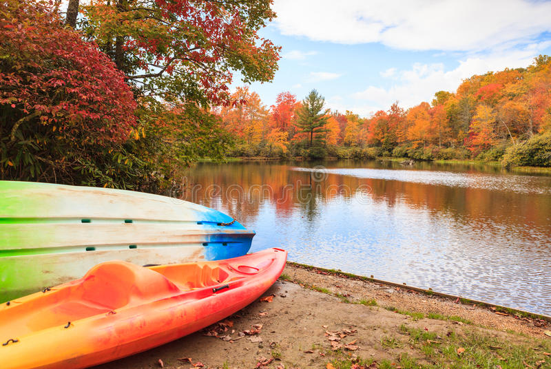 Autumn Landscape Price Lake North Carolina arkivbilder