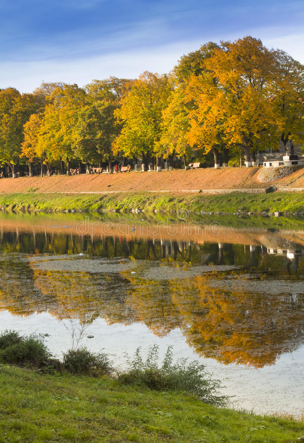 Autumn Landscape With A Reflection Stock Image