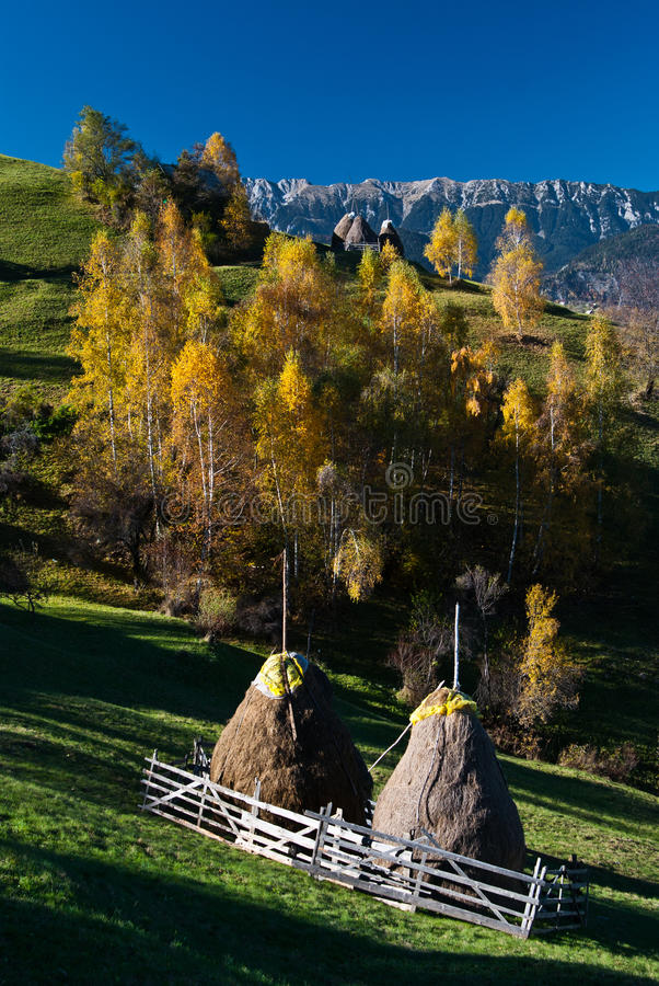Autumn landscape in Romania royalty free stock photography