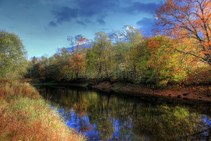Autumn landscape. Russia royalty free stock image