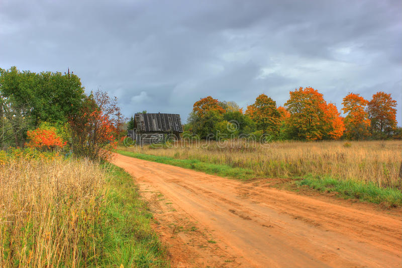 Autumn landscape, Russia royalty free stock images
