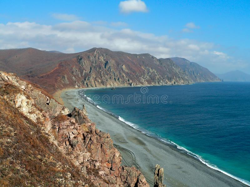 Autumn Landscape on Sea royalty free stock photo