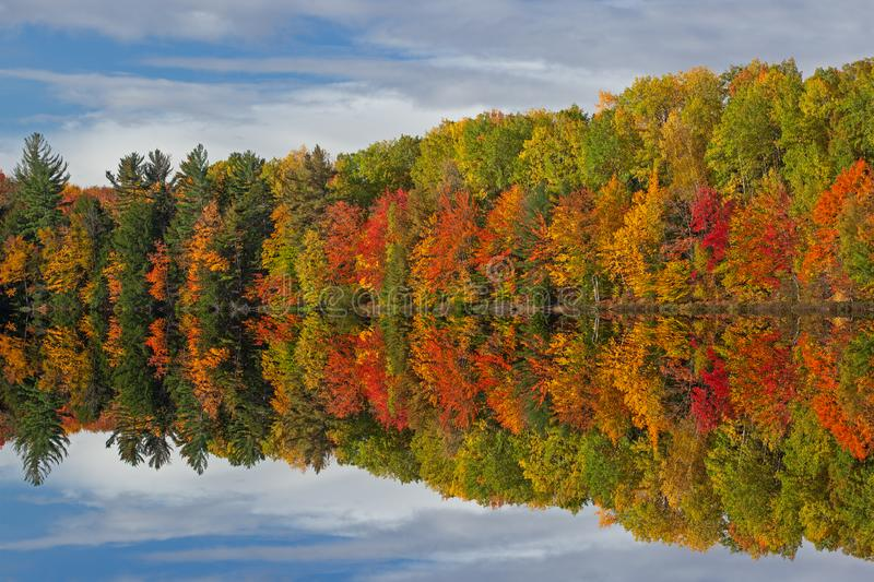 Autumn Reflections Moccasin Lake royalty free stock images