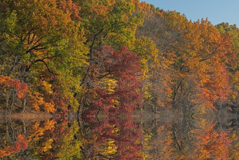 Autumn Reflections Warner Lake stock photography