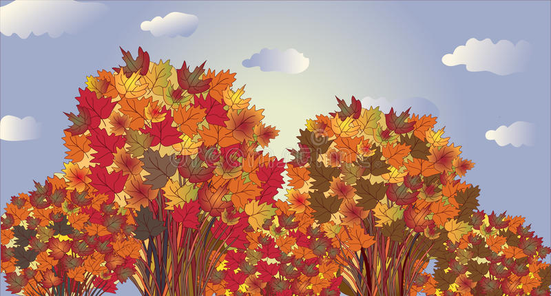 Download Autumn Landscape With Trees Royalty Free Stock Photos - Image: 15530598