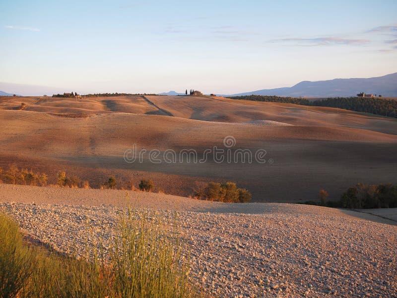 Autumn landscape in Tuscany stock photos