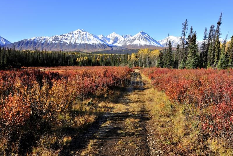 Autumn landscape of Unesco world heritage stock images