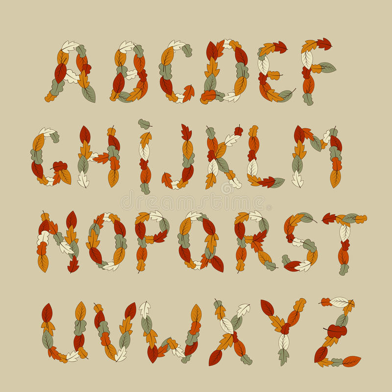 Autumn Latin Alphabet Royalty Free Stock Image