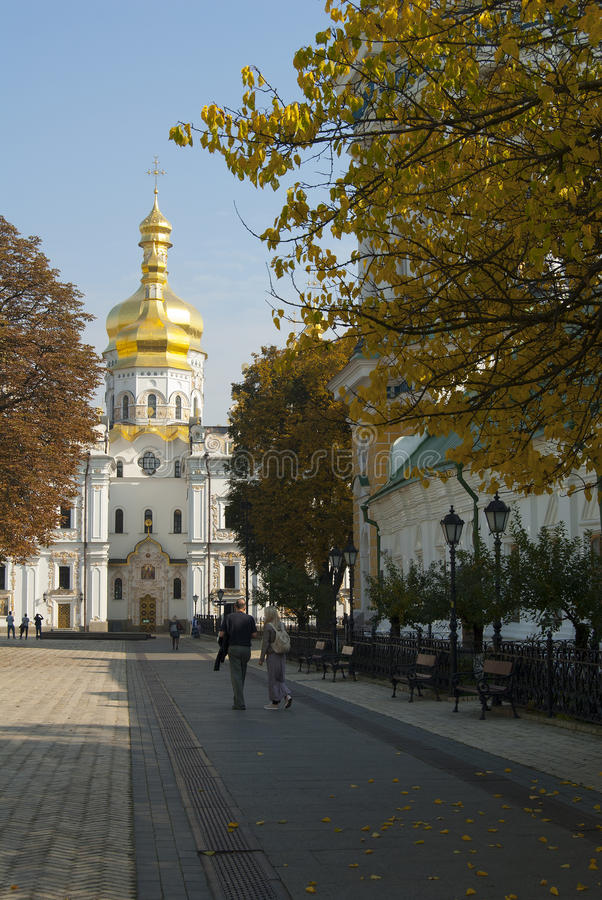 Autumn in the Lavra stock images
