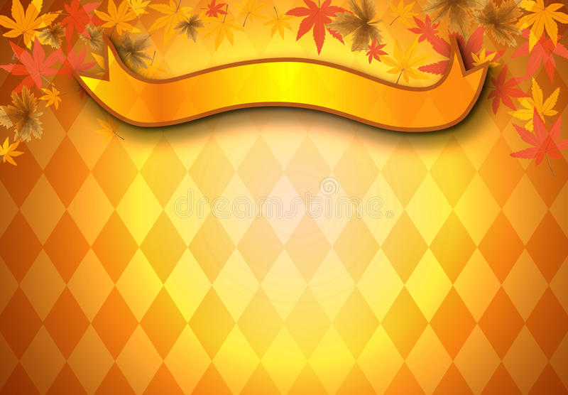 Autumn leaf background. With graphic and banner