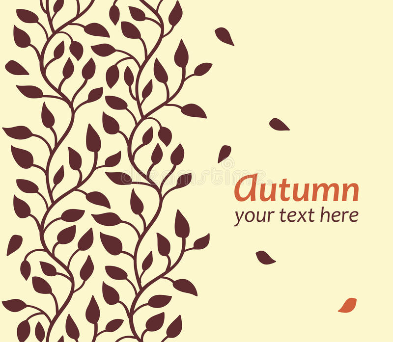 Download Autumn leaf card stock vector. Image of flying, graphic - 25853334