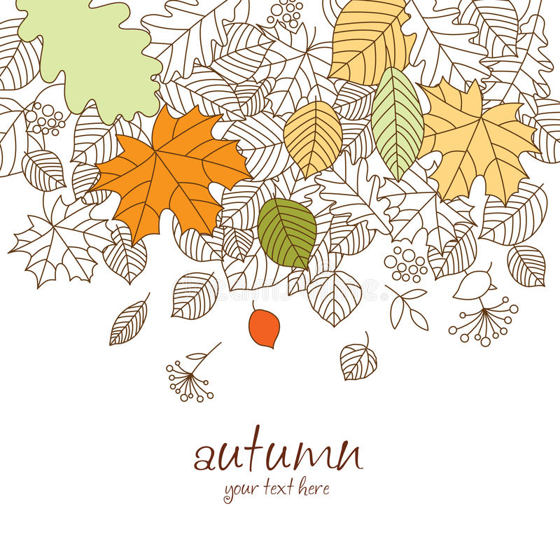 Autumn leaf fall stock illustration