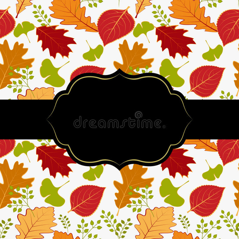 Autumn leaf greeting card stock photography