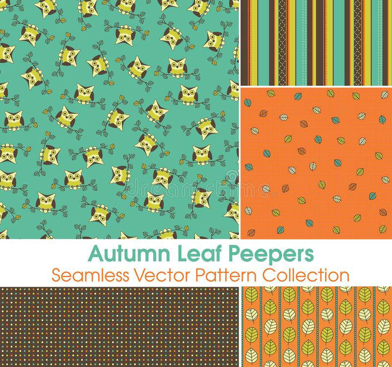 Autumn Leaf Peeper Seamless Vector-Modellserie vektor abbildung