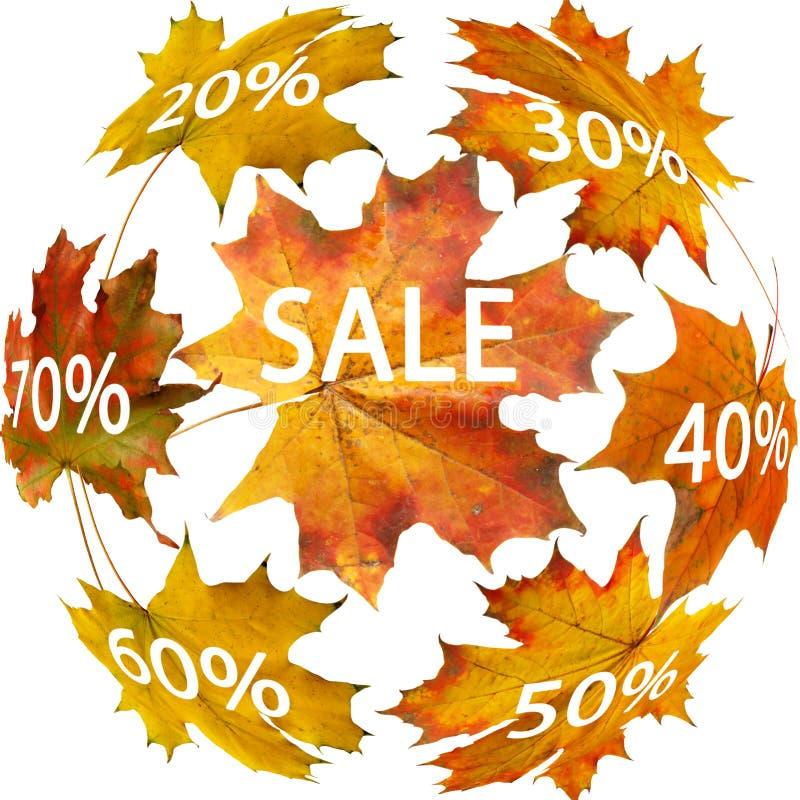 Autumn leaf for sale. Red autumn leaf for sale royalty free stock photo
