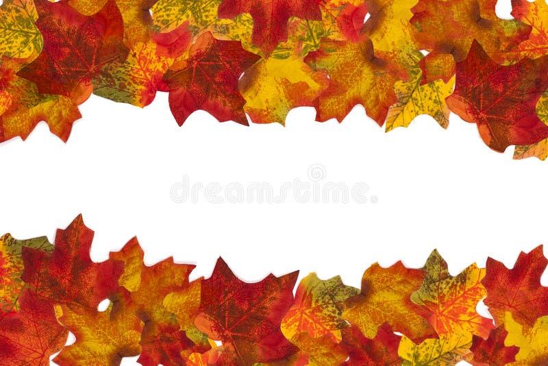 Autumn Leaf Stripe 1 fondo immagini stock libere da diritti