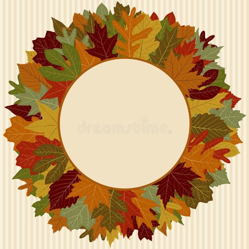 Autumn Leaf Wreath royalty free illustration