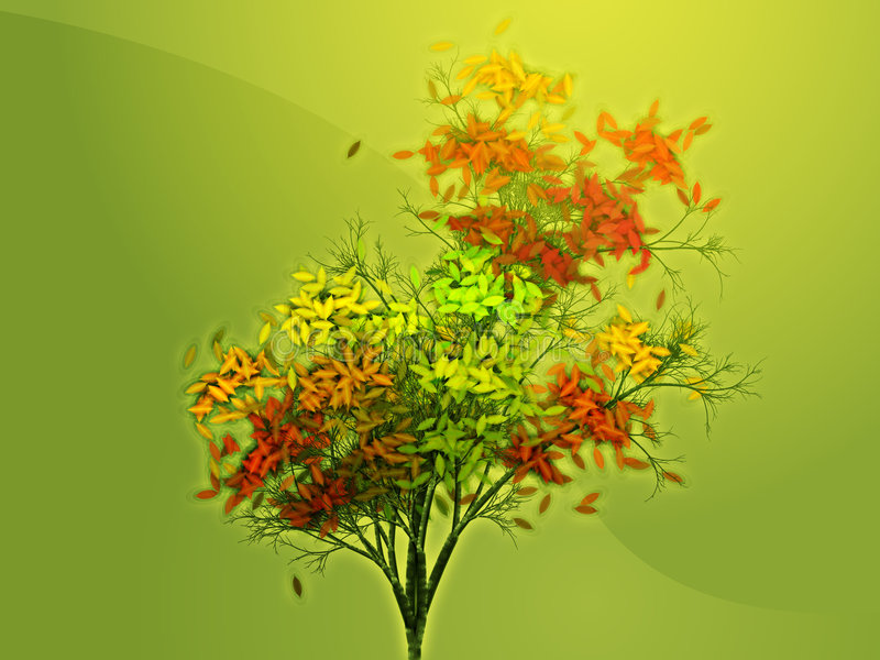 Download Autumn leafy tree stock illustration. Image of wallpaper - 6152156