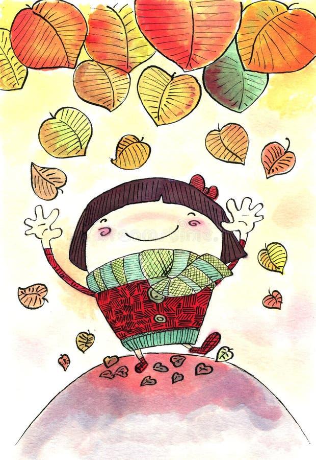 Download Autumn leaves stock illustration. Illustration of orange - 26803498