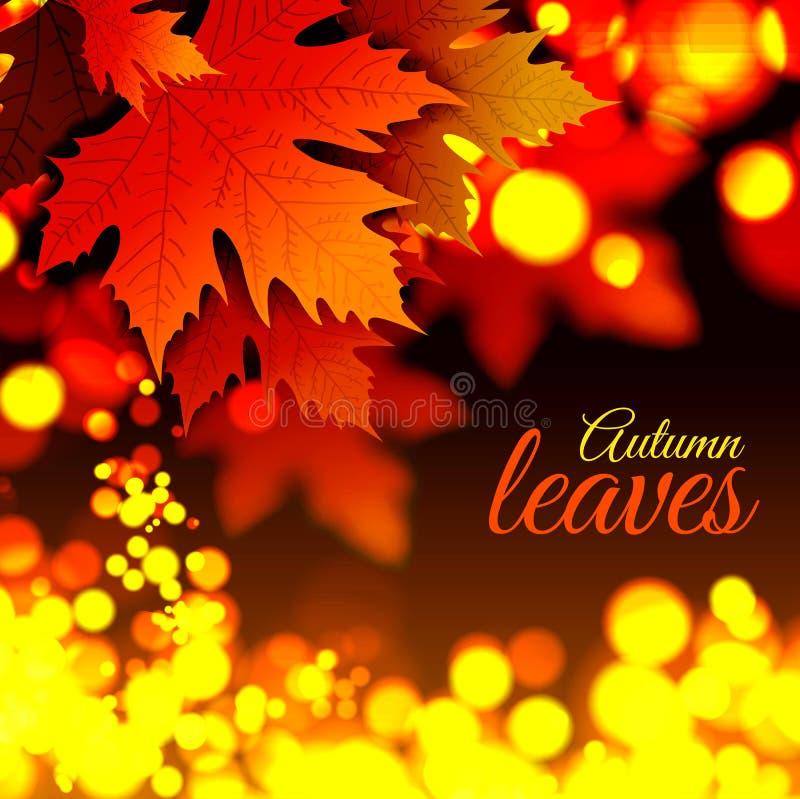 Autumn Leaves stock de ilustración