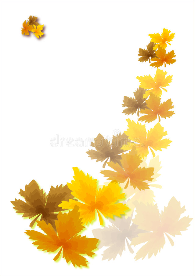 Download Autumn leaves stock vector. Image of pattern, royal, swirl - 5800658