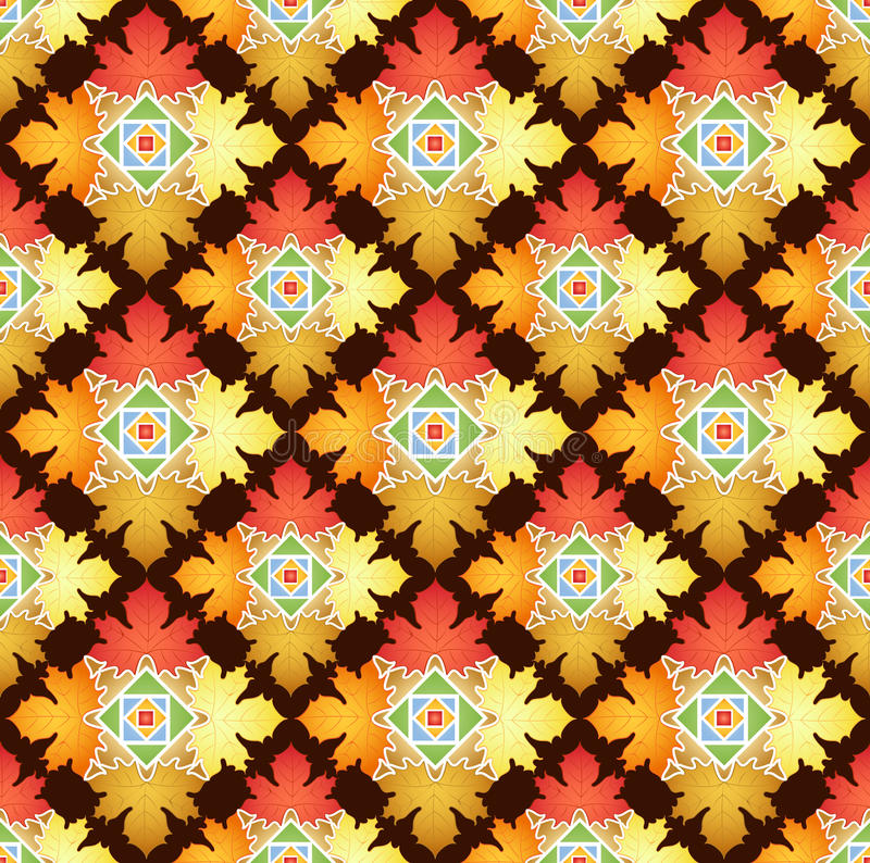 Autumn Leaves Abstract Pattern stock abbildung