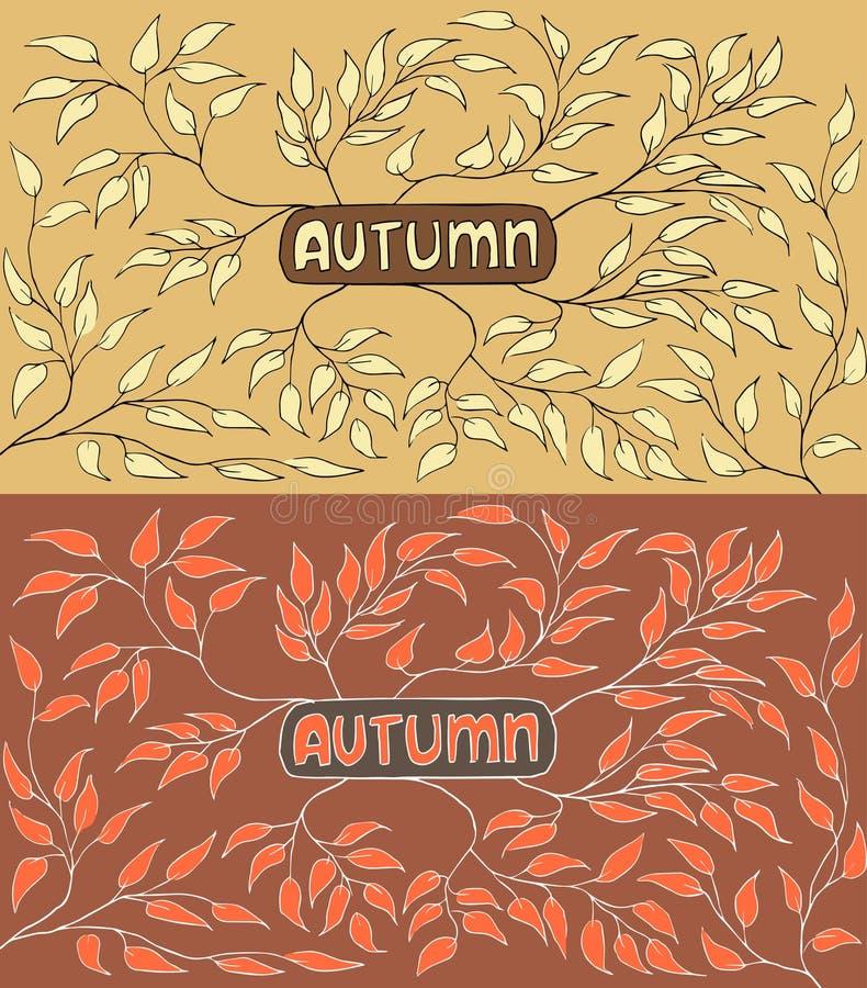 Autumn Leaves abstracte achtergrond Vector illustratie royalty-vrije illustratie