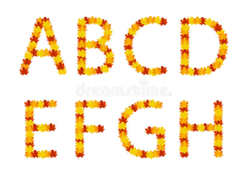 Download Autumn Leaves Alphabet Letters Stock Vector - Image: 26503216