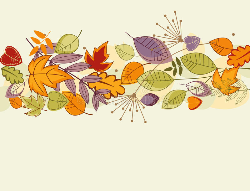 Autumn leaves background vector illustration