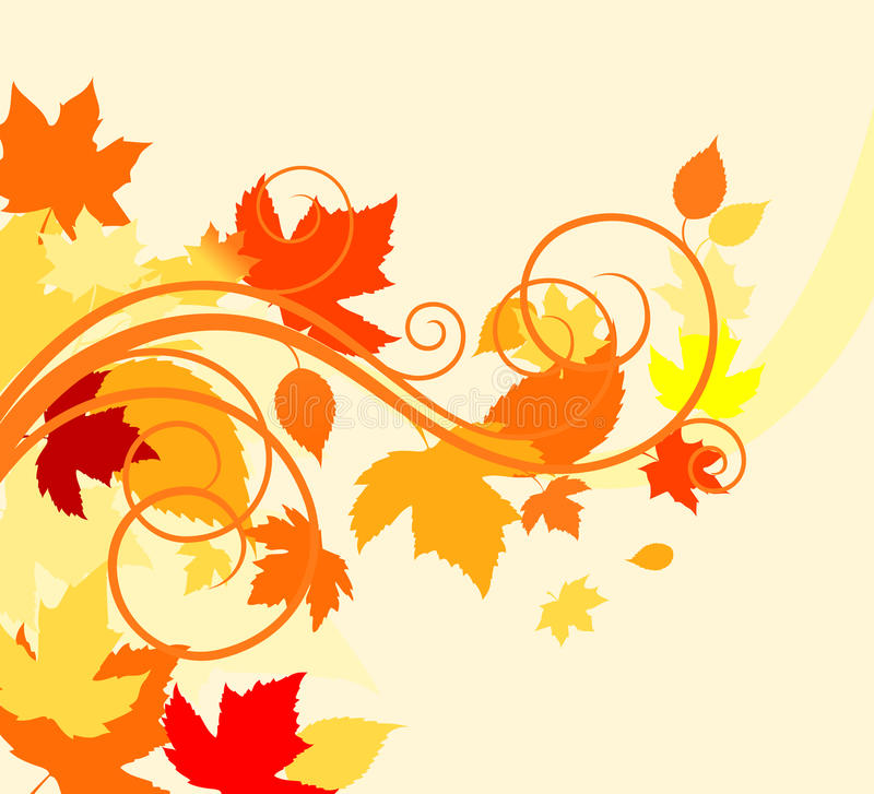 Download Autumn leaves background stock vector. Image of illustration - 18196666