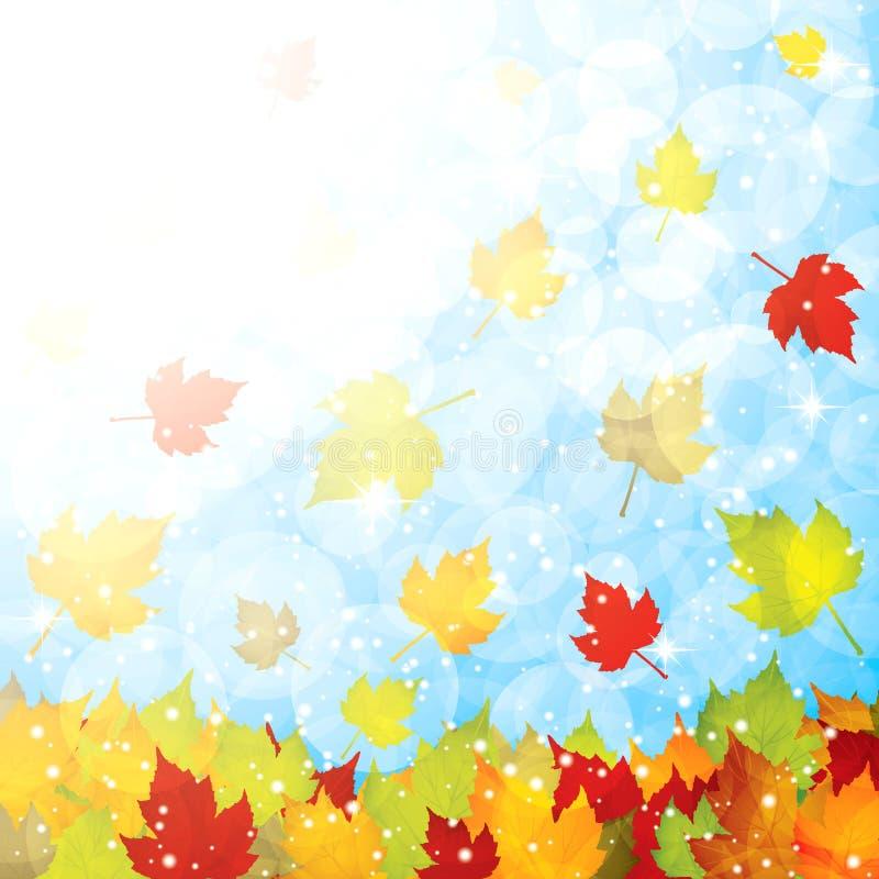 Autumn leaves background stock illustration