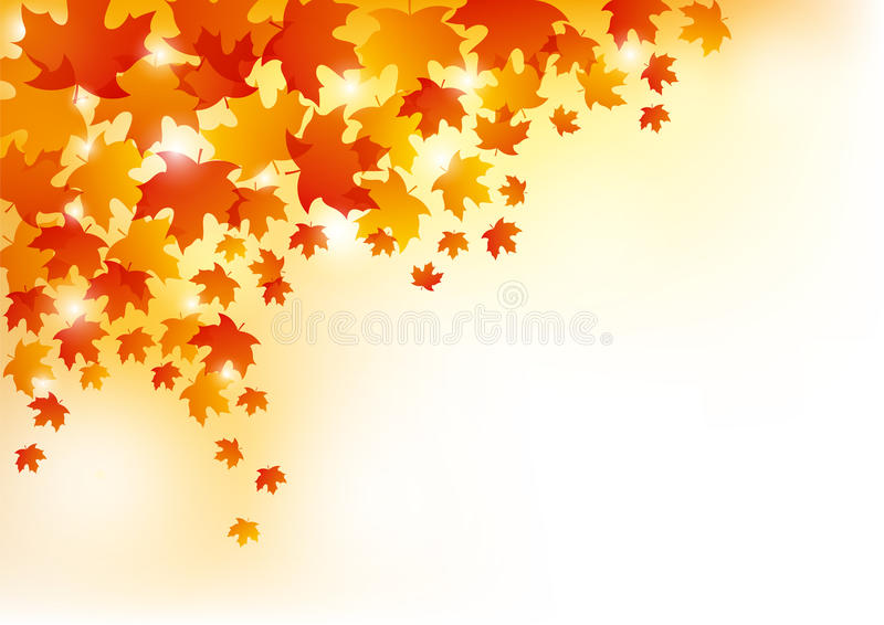 Autumn Leaves Background stock abbildung
