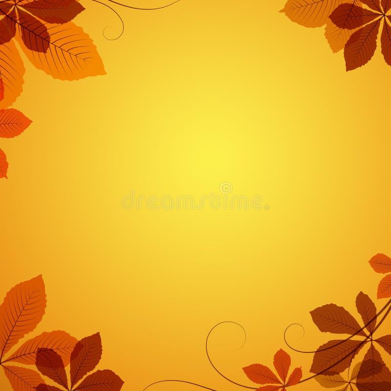 Download Autumn Leaves Background ilustración del vector. Ilustración de decorativo - 42438174