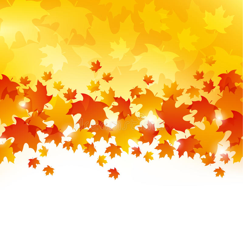 Autumn Leaves Background lizenzfreie abbildung