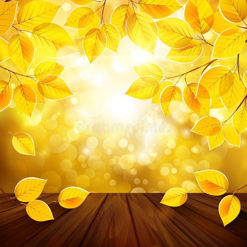 Autumn Leaves Background stock illustratie