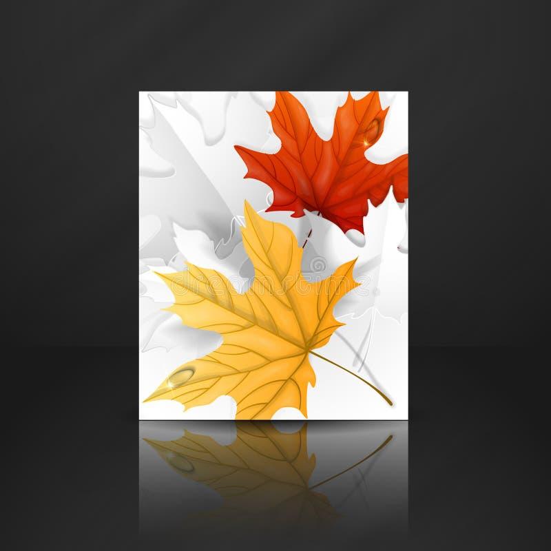 Autumn Leaves Background illustrazione vettoriale